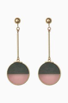 Next Clip On Beaded Tassel Drop Earrings