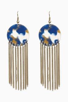 Next Resin Tassel Drop Earrings