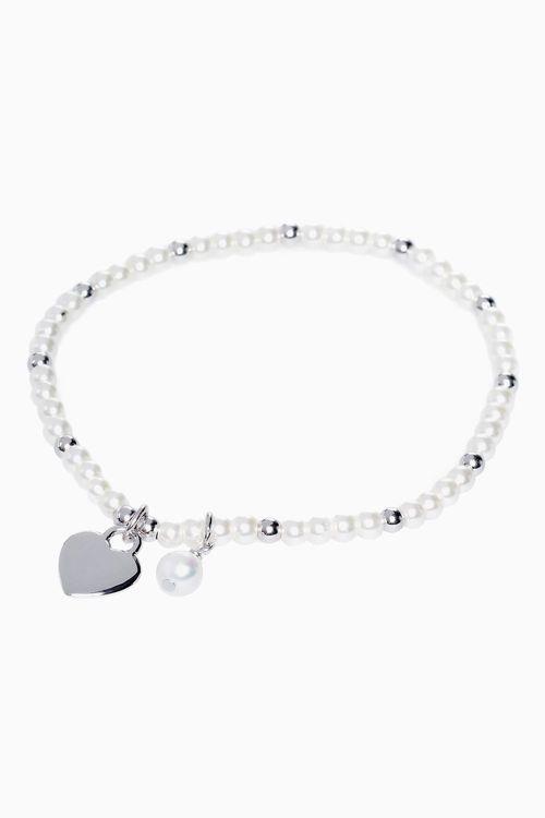 Next Sterling Silver Pearl Effect Bracelet