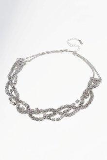 Next Plaited Chain Statement Necklace