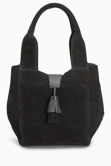 Next Leather Tassel Hobo Bag