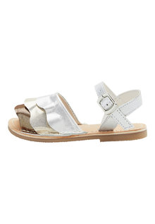 Next Leather Ruffle Sandals (Younger)