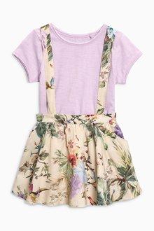 Next Floral Print Skirt And T-Shirt Set (3mths-6yrs)