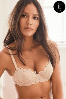 Next Phoebe Broderie Anglaise Light Padded Balcony Bra