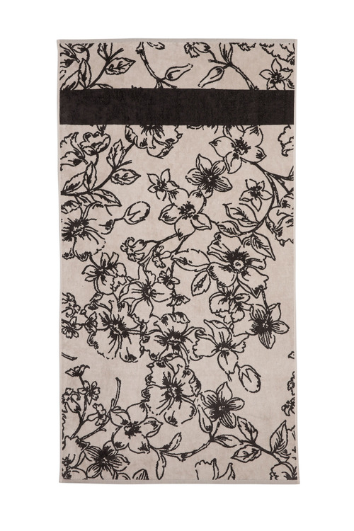 Floral Velour Bath Sheet