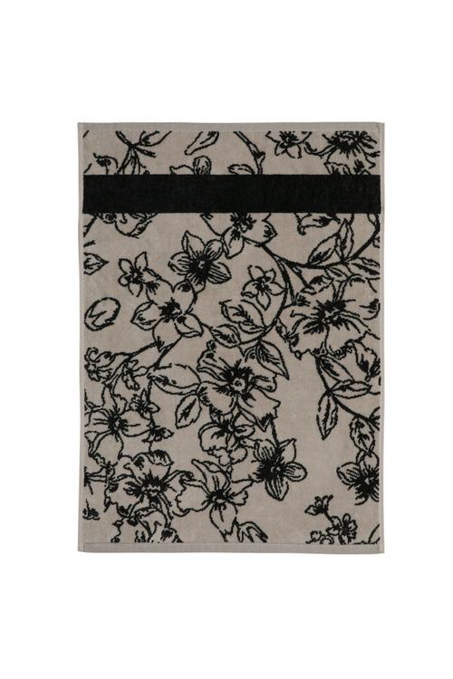 Floral Velour Hand Towel