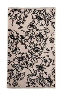 Floral Velour Bath Mat