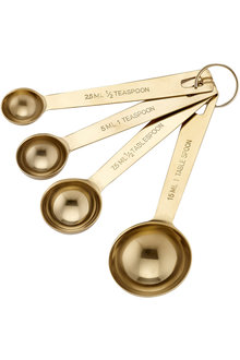 Ladelle Lawson Gold Measuring Spoons Set of 4