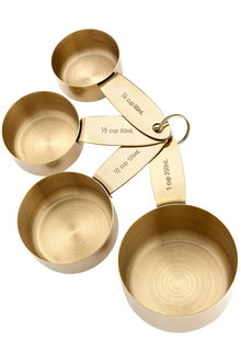 Ladelle Lawson Gold Measuring Cups Set of 4