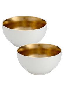 Ladelle Glitz Gold Bowl Medium Set of 2