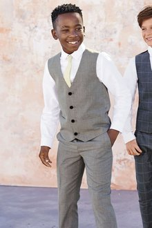 Next Light Grey Suit Trousers (12mths-16yrs)