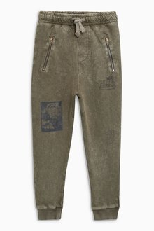 Next Tapered Leg Drop Crotch Washed Joggers (3-16yrs)