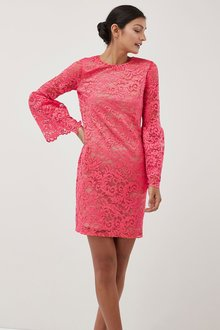 Next Flute Sleeve Lace Dress - Tall