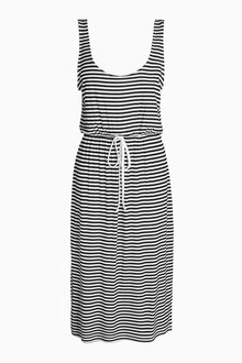 Next Stripe Midi Dress - Tall