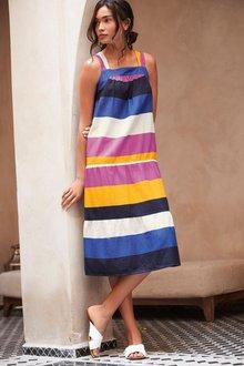 Next Colourblock Stripe Dress