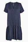 Next Tencel Ruched Hem Dress - Petite