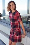 Next Check Tunic Dress - Petite
