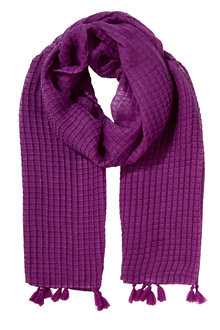 W.Lane Textured Square Tassle Scarf