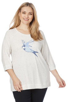 Beme 3/4 Sleeve Sparrow Jumper - 209286