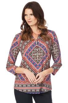 W.Lane Diamond Print Top
