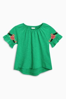 Next Embroidered Sleeve Top (3mths-6yrs)