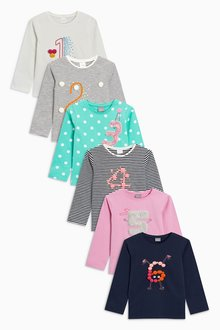 Next Multi Long Sleeve T-Shirt With Faux Fur Applique (12mths-7yrs)