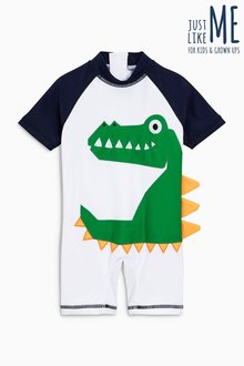 Next 3D Crocodile Sunsafe Suit (3mths-6yrs)