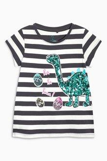 Next Striped Dinosaur Easter T-Shirt (3-16yrs)