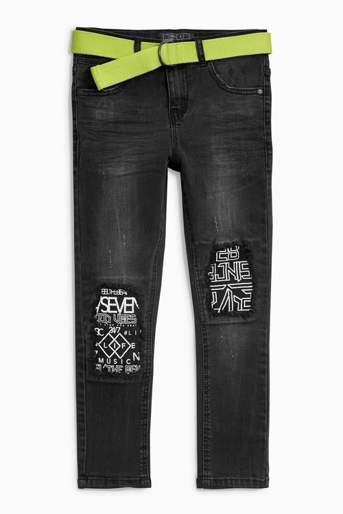 Next Patch Rip Knee Jeans (3-16yrs)