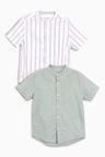 Next Linen Mix Shirts Two Pack (3-16yrs)
