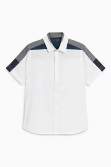 Next Short Sleeve Shoulder Detail Shirt (3-16yrs)