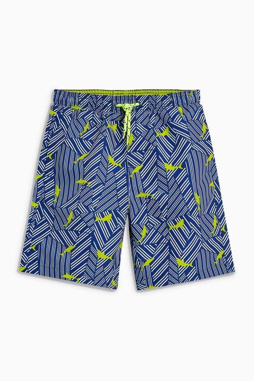 Next Shark Print Shorts (3-16yrs)