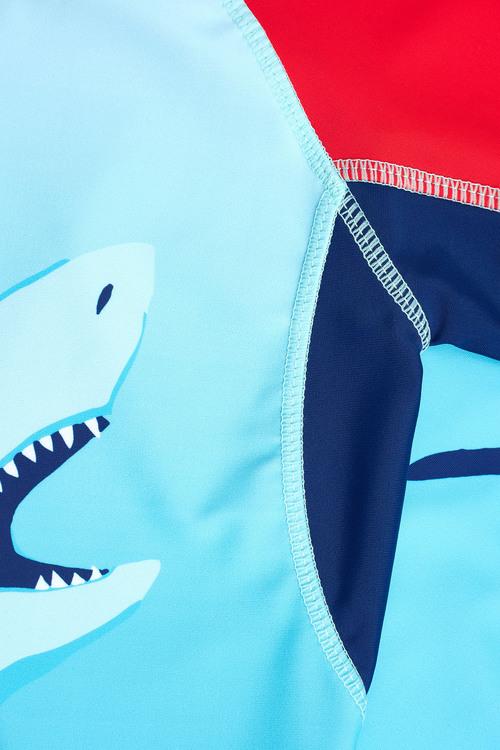 Next Shark Print Rash Vest (3-16yrs)
