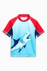 Next Shark Print Rash Vest (3-16yrs)