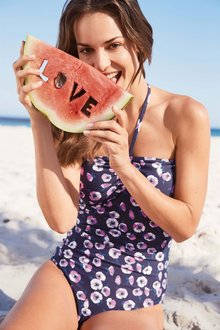 Next Poppy Print Bandeau Swimsuit