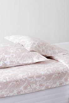250 Thread Count Cotton Flanged Printed Pillowcase Pair - 209714