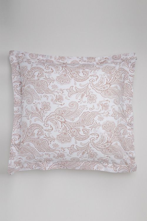 250 Thread Count Cotton Flanged Printed European Pillowcase Pair