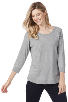 Rockmans Long Sleeve Jewelled Jumper