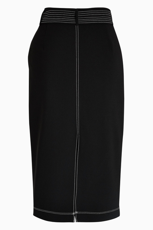 Next Top-Stitch Detail Pencil Skirt