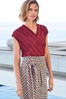 Next Wrap Check Skirt