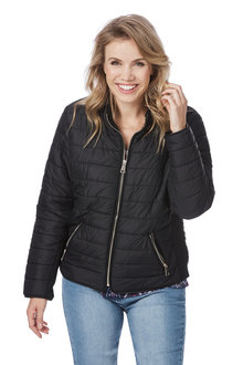 Rockmans Longsleeve Quilted Puffer