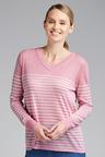 Capture V Neck Stripe Sweater