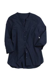Capture Linen Notch Neck Shirt - 209810