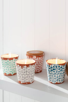 Wax Design Candle with Lid - 209824