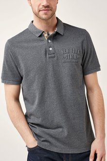 Next Embossed Graphic Polo