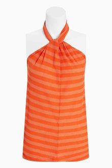 Next Striped Metallic Vest