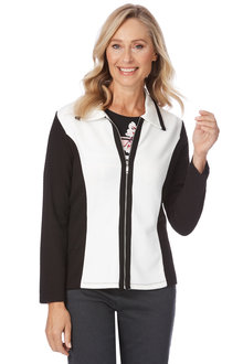 Noni B Kimberly Ribbed Jacket