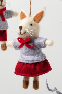 Felt Girl Bunny Ornament