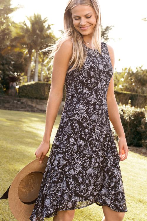 Capture Chiffon Dress