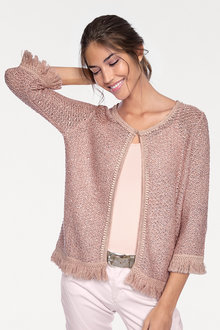 Heine Fringed Sequin Cardigan - 210052
